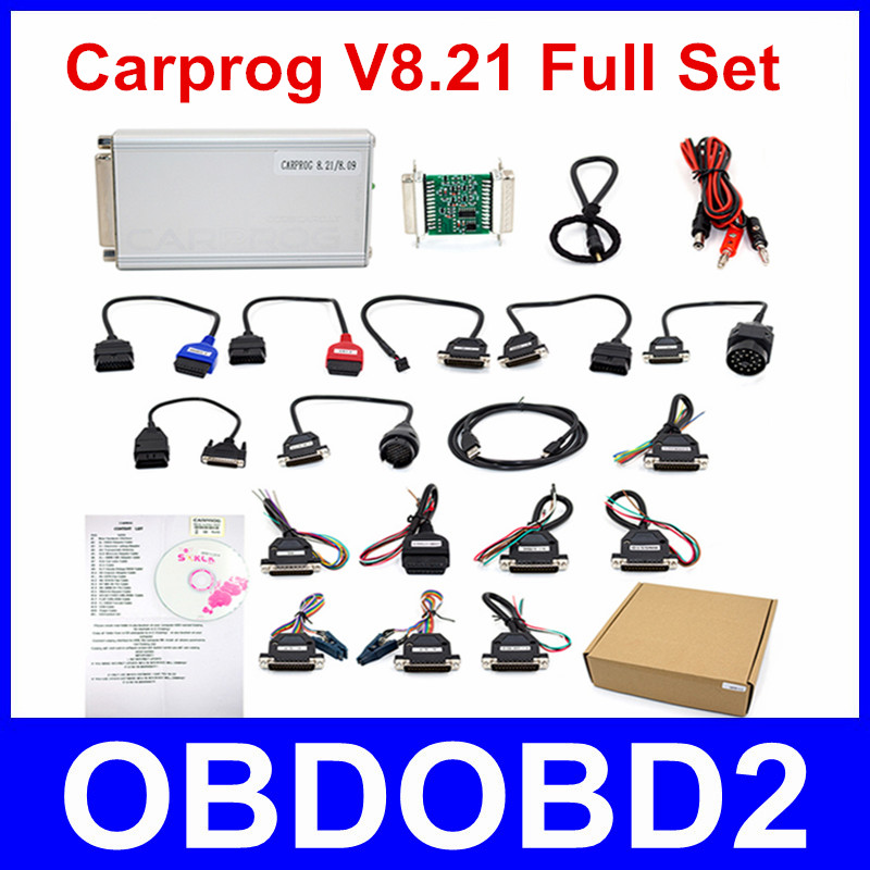 Best Quality Carprog Full V8.21 OBDII ECU Chip Tuning Tool Online Version with All 21 Adapters Much More Authorization DHL Free 2017 newest nitroobd2 benzine cars chip tuning box nitro obd2 more power more torque for benzine cars obdii plug page 9