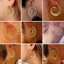 VAROLEV Swirl Drop Earrings Gypsy Tribal Spiral Dangle Earrings Boho Earrings for Women Jewelry
