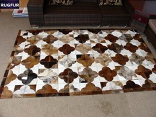 Patchwork Cowhide Carpet Natural Cow Fur Rugs And Carpets RF-B7