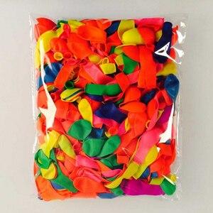 Image 2 - 100 pçs/lote decoração de aniversário ballons festa de casamento decoração festa de criança suppliey cor aleatória chá de fraldas látex balões de água