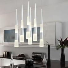 Modern Simple Led pendent lamp Restaurant Living Room Single Head Crystal Cylindrical Lighting Modern Pendant Light Fixtures цена в Москве и Питере