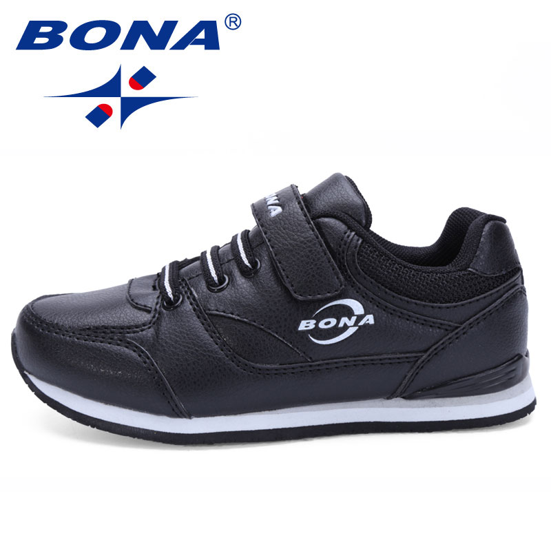 BONA New Classic Designer Style Children Casual Shoes Hook Loop Boys & Girls Sneakers Shoes Kids Flats Shoes Fast Free Shipping
