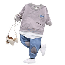Children clothing baby Autumn baby boy clothes cheap long sleeve boutique outfits 1 2 3 year casual toddler girls clothing sets
