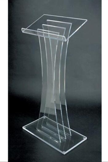 China Manufacturer Wholesale Acrylic Working Platform / Acrylic Lectern / Acrylic Podium Plexiglass