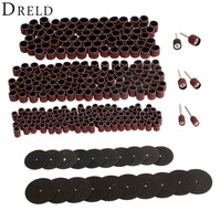 326Pcs Dremel Accessories Rotary Tools Set For Sanding Grinding Polishing Grit 80 Sanding Bands Resin Fibre