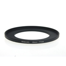 original RISE(UK) 55mm 77mm 55 77mm 55 to 77 Step Up Ring Filter Adapter black