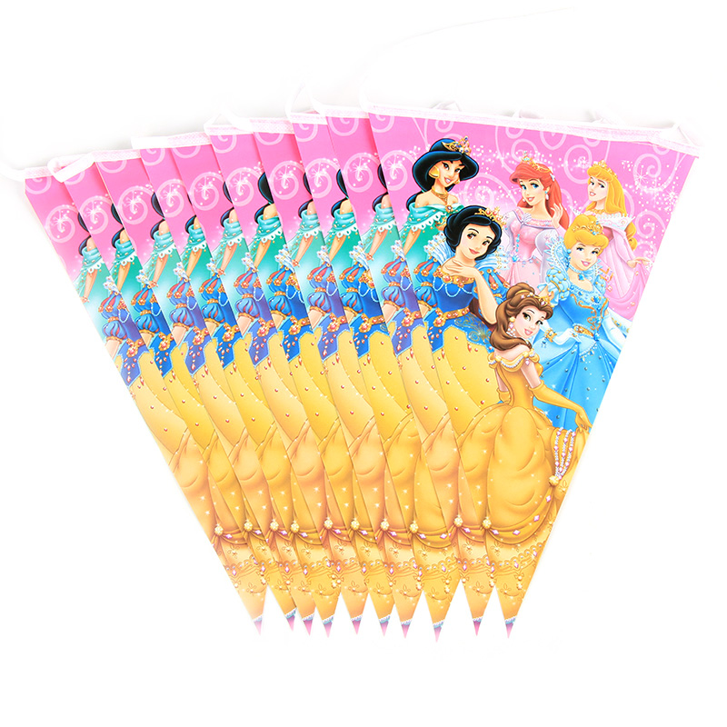 Princess Kids birthday party decorations girls Princess cartoon kids Party Supplies tableware Decoration Supplies baby shower in Disposable Party Tableware from Home Garden