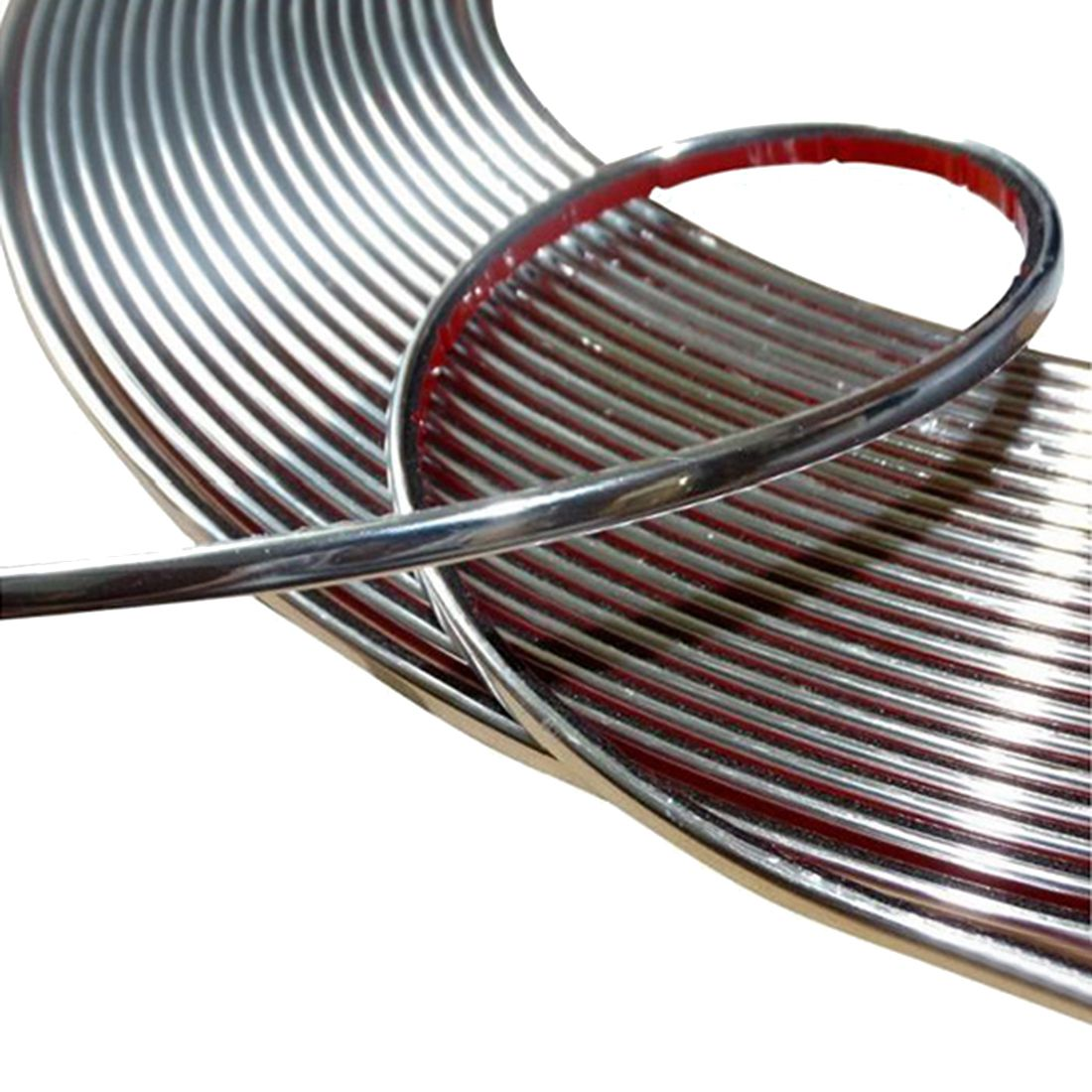 6mm 15m Adhesive Strip Color Chrome Nickel