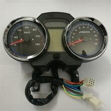 Universal Readable Speedometer Gauge Panel Motorcycle Odometer Instrument LED KM/H Racer ATV