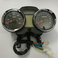 Universal Readable Speedometer Gauge Panel Motorcycle Odometer Instrument LED KM/H Racer ATV
