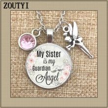 My sisters guardian angel commemorates the charm. To commemorate my sister, sister is birthstone of angel.
