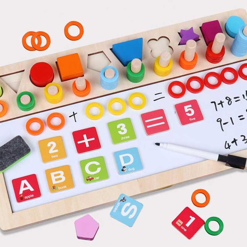 Tablero de dibujo logarítmico Digital 3 en 1 para aprender a contar números a juego