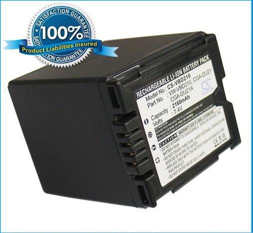 Batería para Panasonic NV-GS60 NV-GS500EB-S VDR-D150EB-S VDR-D250 NV-GS280 NV-GS