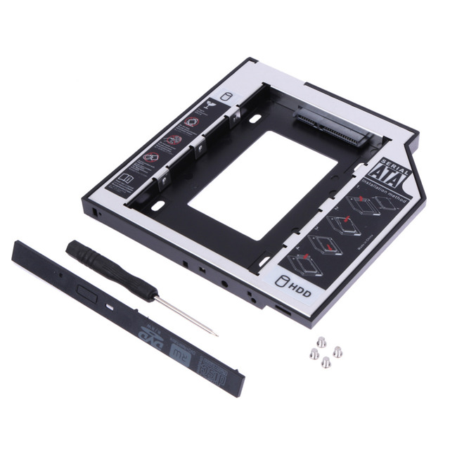 Đĩa cứng Ổ Đĩa Bay Phổ 2.5 2nd 9.5 mét Ssd Hd SATA Ổ Đĩa Cứng HDD Caddy Adapter Bay Đối Với cd Dvd Rom Bay Quang Mới
