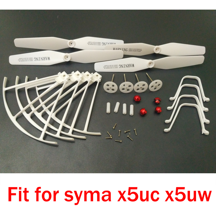 Original Syma X5UW Spare Parts Gearset Gear Propeller Cover Hat Motor Engine Landing Gear Replacement Accessories For Syma X5UC 8 replacement spare parts blender juicer parts 4 rubber gear 4 plastic gear base for magic bullet 250w 38