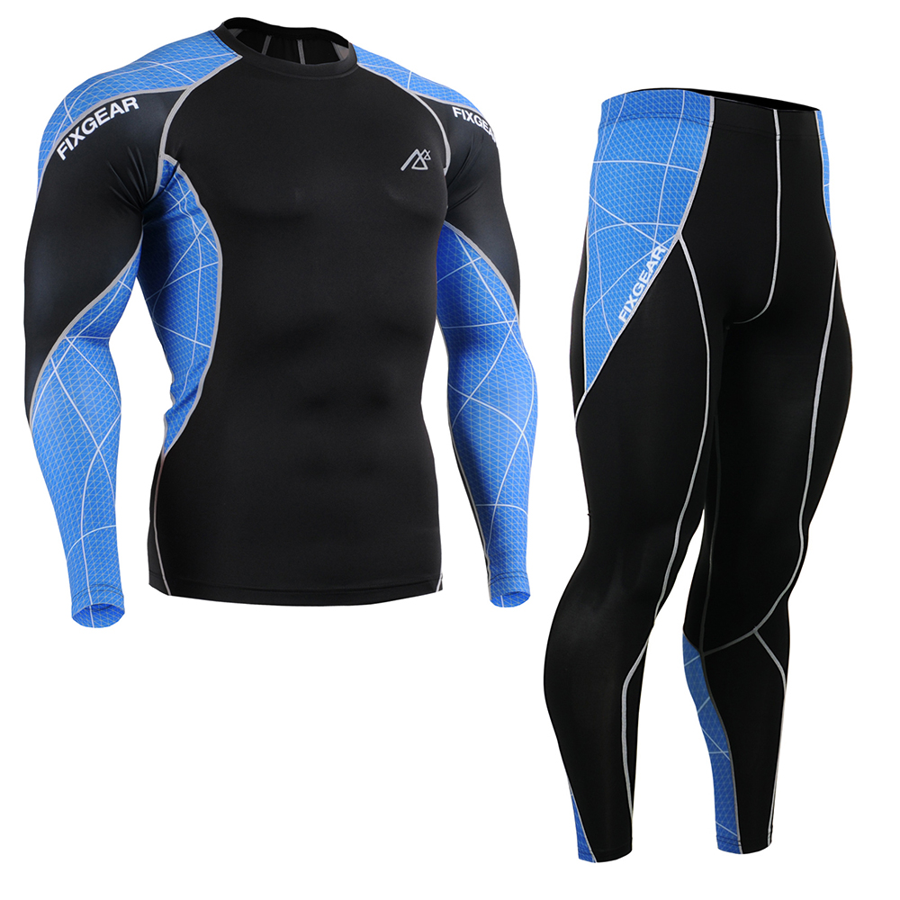 Men's Running Suit Compression Sportsman Skin-Tight Tracksuits Gym Training MMA Workout Fitness Yoga Clothing Set C3L/P2L-B70B fitness padded gravity boots safety locking mechanism ankle hooks abdominal workout training hang up ab gym equipment