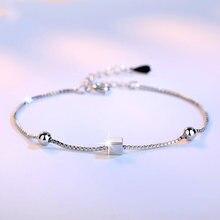Поступление серебряные ювелирные изделия браслет квадратный