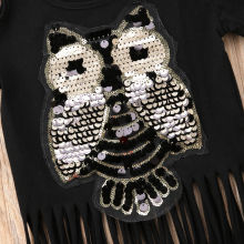 Owl Printed Top Baby Girl For 1-6Years
