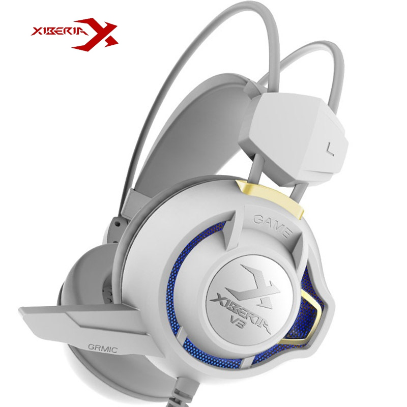 Original XIBERIA V3 Gaming Headphones With Mic Super Bass LED Gaming Headset USB PC Headphone With Microphone For Computer Gamer original xiberia v5 usb wired gaming headphone super bass stereo headset microphone over ear noise lsolating pc gamer headphones
