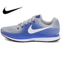 Original Authentic NIKE AIR ZOOM PEGASUS 34 Men's Running Shoes Sneakers Lightweight Non slip Breathable Jogging Sneakers 880555
