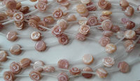 2strands high quality Genuine Pink Queen Conch Shell ,Pearl Shell Rose flower fluorial Hand Carved loose beads 6 8 10 12mm