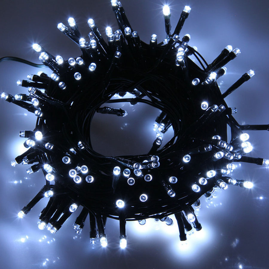 BEIAIDI 100M 500 Waterproof LED String Fairy light Garland 8 Function Black Wire Holiday Patio Christmas Wedding String Light zinuo 100m 600 led christmas led string light outdoor waterproof 220v fairy string garland 9 color for garden wedding party