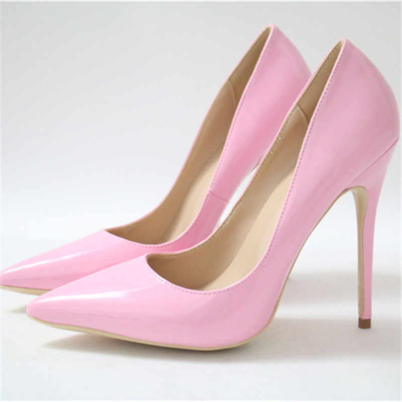 687a433d4e13 Baby Pink Candy Color Wedding Shoes Woman SO Kate High Heels Stiletto  Pointed Toe Chaussure Femme