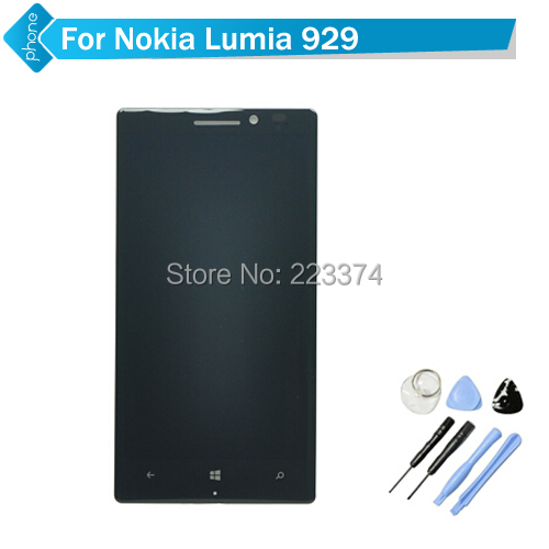 Original For Nokia Lumia 929 LCD Display Touch Screen Digitizer Assembly with frame +Tools Free Shipping