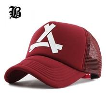 [FLB] New Summer Baseball Mesh Cap Snapback Dad Hat Fashion hats Trucker Adjustable Hat Hip hop God Pray  Women Men Cap