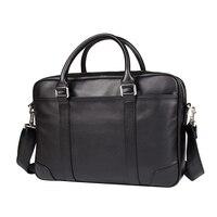 J.M.D 100% Genuine Leather Handbag Top Handle Briefcases Men's Laptop Case 7349A/7349Q/7349B