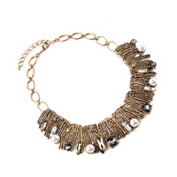 China Factory Wholesale Indian Jewelry Christmas Gift For Girls Plated Antique Gold Friendship Necklace