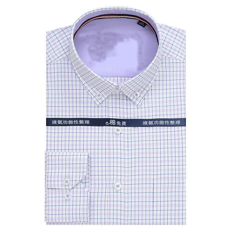 Hemden Herrenbekleidung & Zubehör Neue Ankunft Plaid Männer Mode Hohe Qualität Baumwolle Lange-sleeve Shirt Formale Extra Große Plus Größe M-4xl 5xl 6xl7xl 8xl 9xl 10xl