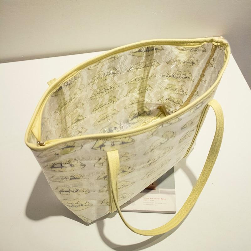 Bolsa de playa con estampado de labios de alta calidad bolsa de playa - Bolsos - foto 3