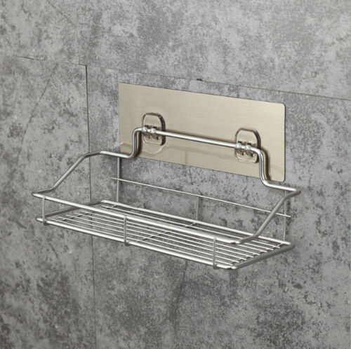 Metal Shelf Shower Basket Practical Plastic Bathroom Rack Organizer Shower Shelf  Adhesive Hang Bathroom Storage