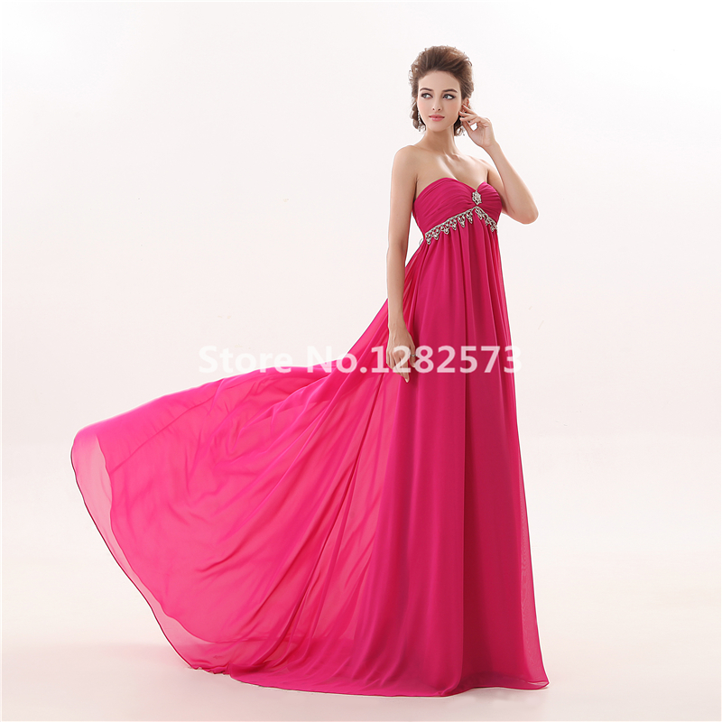 Rose Rot Empire Taille Sexy Strand Abendkleid Chiffon Formale ...
