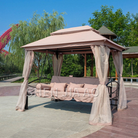 Comfortable Swing Chair Hanging Bed Two Users Outside Swing Hammock Multifunction Courtyard Villa Shaker Swing Chair 1PC