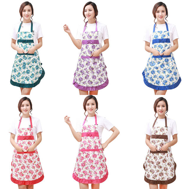 kitchen wear large island ideas online shop waterproof floral strap style home aprons placeholder oil prevention