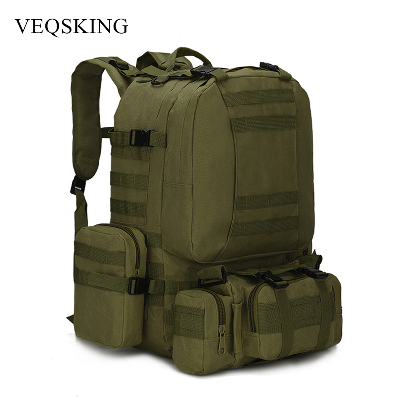 Multifunctional 50L Military Tactical Bag, Hiking Camping Camouflage Backpack,Outdoor Waterproof Climbing Sport Bag a4 tech n 250x 1