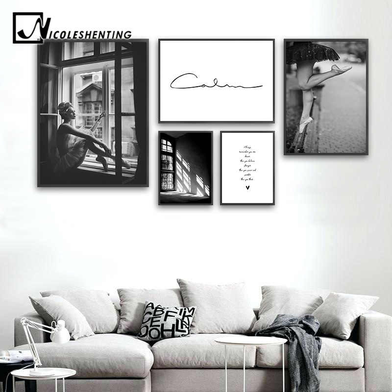 Abstract Art Canvas Fashion Poster Black White Wall Painting Print Nordic Decoration Picture Living Room Scandinavian Home Decor