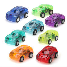 1PC Move Transparent Car Toy Pull Back Small Engineering Car Model Kid Toys Gift Random Color Diecasts Toy Vehicl(China)