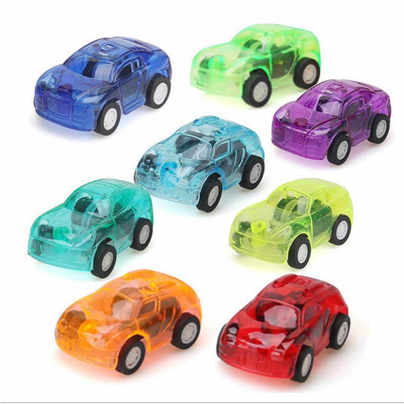 1PC déplacer Transparent voiture jouet retirer petite ingénierie voiture modèle enfant jouets cadeau couleur aléatoire Diecasts jouet Vehicl