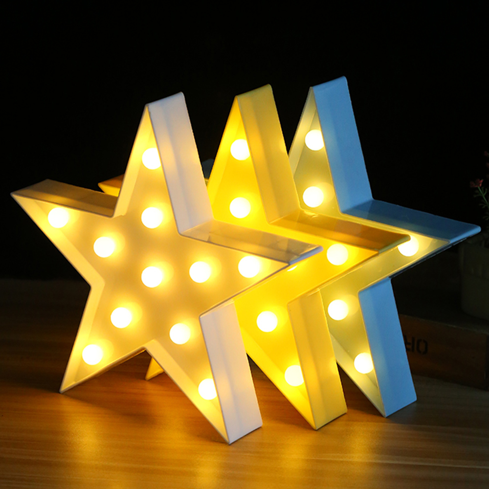 3D LED Star Butterfly Letters Plastic Lamp Light Crown Sign LED Light for Home Party Wedding Decoration Valentine's Decore great wedding celebration square pavilion decoration pink led star ribbon lamp h071 3