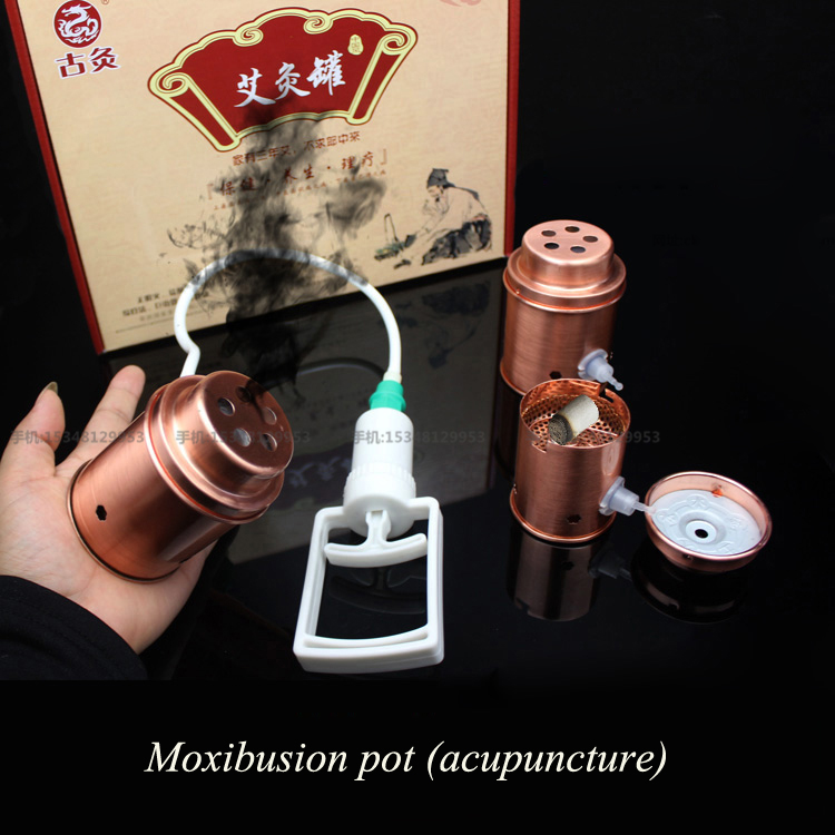 Household moxibustion pot vacuum copper facing cupping 3pcs/set Cupping device Ay Tsao/asiatic wormwood acupuncture Moxibustion 100g 8 1 artemisia pure moxa acupuncture ay tsao asiatic moxawool expell cold pain health care wholesale