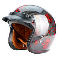 New fiberglass motorcross Vintage big size helmet ECE cetified Dual D ring retro Motorcycle helmet gift goggles A500
