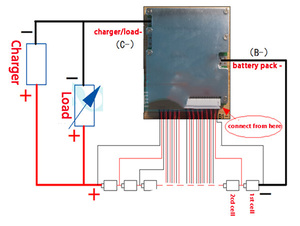 Image 5 - 14S 60A  version S LiFePO4  BMS/PCM/PCB battery protection board for 14 Packs 18650 Battery Cell w/ Balance w/Temp