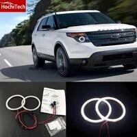 HochiTech Ultra bright SMD white LED angel eyes 2000LM 12V halo ring kit daytime running light DRL for Ford Explorer 2011 2016