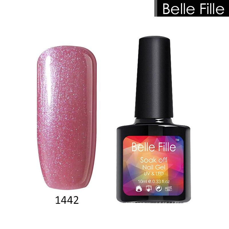 BELLE FILLE Natural clear color salon UV gel nail polish home gel ...