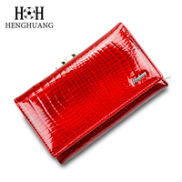 Women Wallet Small Short Genuine Leather Wallet Female Alligator Hasp Coin Purse Women Purses Mini Womens