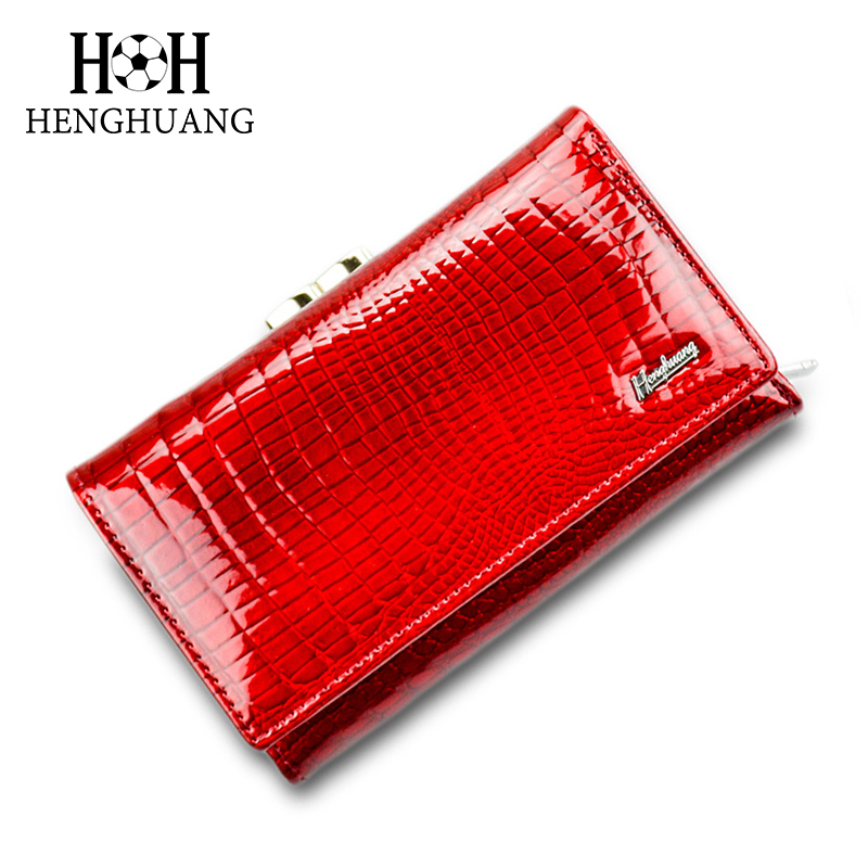 HH Luxury Women Genuine Leather Alligator Short Wallet Female Zipper&Hasp Large Capacity Crocodile Calf Leather Purse zuoyi crocodile leather original zipper snap multifunctional in large capacity and long wallet