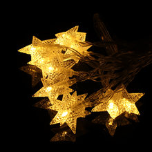 3M Stars Warm White LED Fairy Curtain String Light Wedding Christmas Decor Lamps Party Xmas Decor 2017 New(China)